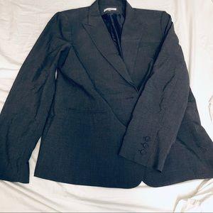 Gray Calvin Klein Skirt Suit